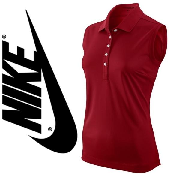 Nike Tops - (NWT) NIKE Red Polo Top